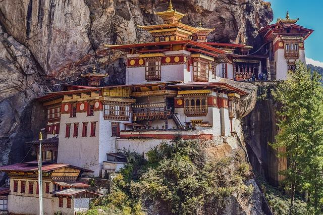 klášter bhútán