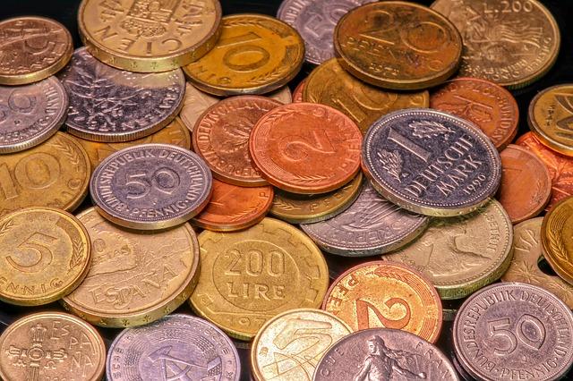staré drobné mince